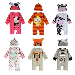 EuropEan childrEn s clothing online shopping - Baby long sleeved jeans cotton cartoon animals tiger panda lion suits tattoo clothing spring and autumn clothing children s clothing