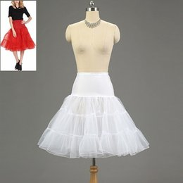 Short Tutu Jupe Ladies Pas Cher-Nouveau mariée nuptiale Petticoat Beaucoup de couleurs Organza Hoopless Short Crinoline Lady Girls Underskirt Rockabilly Dance Petticoat Skirt Tutu