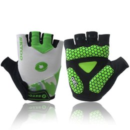Glove cyclinG Gel online shopping - Cycling Gloves Summer For Man And Woman Riding Bike Mittens Half Finger Glove Moisture Wicking Gel Pad Breathable Accessories sk F