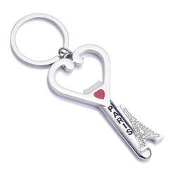 Discount top eiffel tower - Bottle Opener Wedding Paris Eiffel Tower Souvenirs Gift Key Chain Heart Keychains Fashion Design Metal Keychain Bar Tool