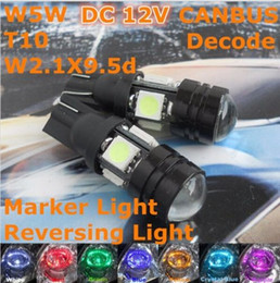 Read Top Canada - 10X White 12V CE LED Car Lamp T10 W5W Signal Top Reading Width Parking Light Color Temperature 6500K White