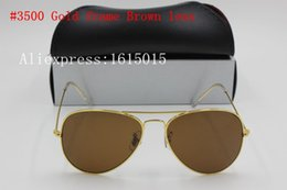 $enCountryForm.capitalKeyWord Australia - free shipping 2017 1pcs New to men's ladies retro brand sunglasses gold frame brown hd glass lens UV400 protection black box