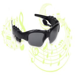 HeadpHones for glasses online shopping - Bluetooth Sunglasses Outdoor Glasses with Mic Bluetooth Headset Music Stereo Glass Wireless Headphones for iPhone plus Samsung