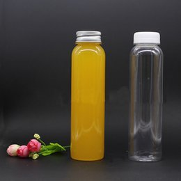 Hot Selling 350ml plastic fruit juice bottles Functional beverage bottles PET food grade plastic bottles with aluminium cap from skull ball caps suppliers