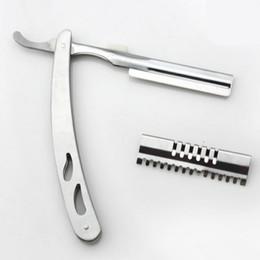 $enCountryForm.capitalKeyWord NZ - Wholesale- professional 2 in 1 hair scissors 440c Shavers straight razor thinning shears cutting barber hairdressing scissors Free shipping