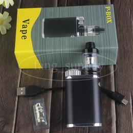 mechanical mod kits for 2019 - Electric Cigarette P Box Vape eCig Mechanical Mod Kit 50W Built-in 18650 Battery Cell 0.3 ohm Top Filling for eCig Vapor