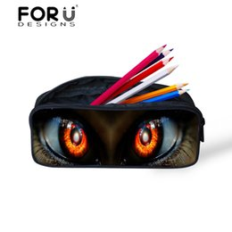$enCountryForm.capitalKeyWord UK - Wholesale- Women Make Up Bag Organizer Trooper Cat 3d Big Eyes Printed Pencil Bags Case Pen Pouch for Girls Galactic Space Bags FORUDESIGNS