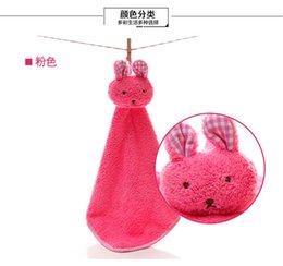 Высокое качество детское полотенце новый милый кролик детские полотенце для рук мягкий детский мультфильм животных висит протрите ванна лицо Бесплатная доставка 100 шт.