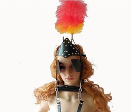 China Sex Bondage Leather Pony Girl Harness with Head Piece and Vulcanized Rubber Bit Gag Pony Play Fetish Kinky Toy suppliers