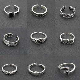 2019 neu erhöht 217 designs vintage 925 silber ringe einstellbar thai silber kreuz feder stern ringe für frauen männer partei schmuck geschenk im Angebot