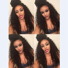 Discount blue synthetic curly hair - Afro Loose Afro Kinky Curly Synthetic Lace1b#2#613#27#Blonde&Brown&Black Heat Resistant Fiber Hair Synthetic Wigs Black