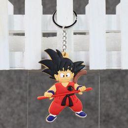$enCountryForm.capitalKeyWord NZ - EMS 8cm Anime Dragon Ball Son Goku Keychain Pendant PVC Action Figure Doll for kids Christams gift free shipping