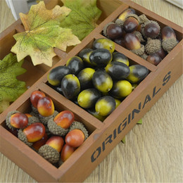 wholesale 20pcs 3cm cheap mini chestnut artificial flower fake foam fruits berries flowers for wedding christmas tree decoration - Cheap Christmas Trees Online