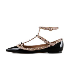 $enCountryForm.capitalKeyWord Canada - Zandina Women Handcrafted Fashion Ballerina Flat Shoes Pointed Toe T-Strap Flats Pumps Shoes For Party Wedding