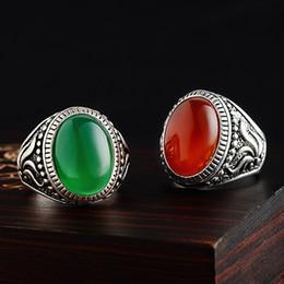 Fashion Gem Vintage Canada - New Arrive Wholesale Hot Sell Vintage Elegant Single Opal Gem Antique Silver Ring for Fashion People