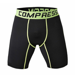 China Wholesale- New Running Sport Mens Basketball Tight Compression Shorts Gym Fitness Clothing Training Wicking Short Pants Homme Men cheap compression shorts men s suppliers