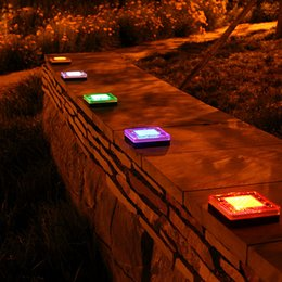 Bricks Solar Lighting NZ - Solar Led Underground Lights Highly Compressive Sensing Garden Lawn Pathway Light Solar Ground Buried Light Road Lamps Square Brick Lights