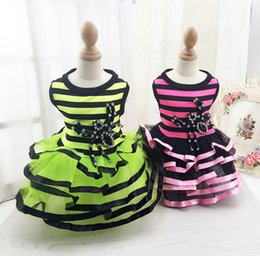 $enCountryForm.capitalKeyWord Canada - D34 New Pet Dresses Summer Clothes Spider pattern Small dogs cats Princess skirts Stripe tutu Dress Costume for Yorkshire