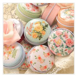 tin boxes wholesale NZ - Beautiful 12pieces lot Flower Storage Box Small Metal Tin Boxes Tea Box for Sugar Coffee Coin Small Things Storage Free Shipping