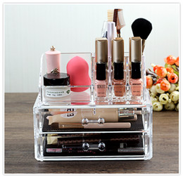 Attractive Clear Acrylic Makeup Organizer With Drawers Cosmetic Beauty Care  Organizer For Lipstick Or Brush Collection Storage Part 56