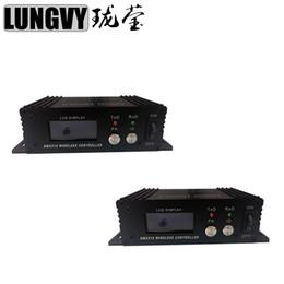 Dmx 512 Wireless Controller NZ - 2pcs lot Wireless DMX 512 Receiver Transmitter 2.4G Wireless Dmx 512 Controller Transmitter Receiver Dmx Controller Repeater Disco Light
