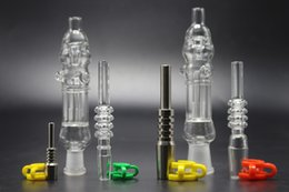 $enCountryForm.capitalKeyWord Australia - Mini Nector Glass Water Pipe With Gr2 Titanium Nail 10mm 14mm Avaiable Glass Pipe Micro NC Oil Glass Bong