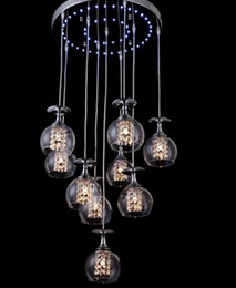 wine room chandeliers NZ - Modern Clear Wine Glass Crystal Pendant Lamp K9 Crystal Living room Restaurant Chandelier Light Hanging Suspension Light with Blue Light LFA