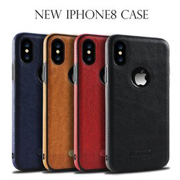 Stitch Cases NZ - New For iPhone 8 7   6s Samsung S8 S7 S6 New Business Leather Pattern Stitching Phone Case TPU Soft Shell full protection Anti-drop Case DHL