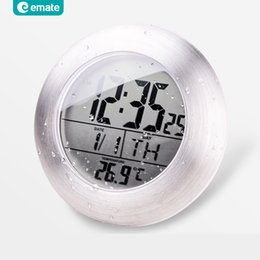 Wholesale Emate Bathroom Waterproof Temparture Sensor Electronic Digital  Clock With Sucker And Bracket supplier waterproof bathroom clocksWaterproof Bathroom Clocks Suppliers   Best Waterproof Bathroom  . Small Bathroom Clocks. Home Design Ideas
