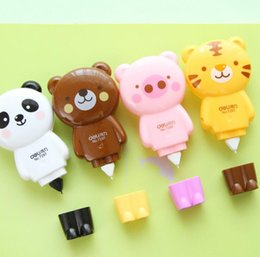 meter office products. wholesale1pcs new 6 meter cute animals bear pig panda correction tape fluid school office supply student prize gift h0985 products u