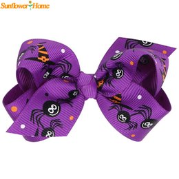 Fashion Hair Clips For Kids Canada - Wholesale- Newly Design Kids Girls Fashion Cartoon Printed Hairpins Hair Clips For Halloween Celebration 160802 Drop Shipping