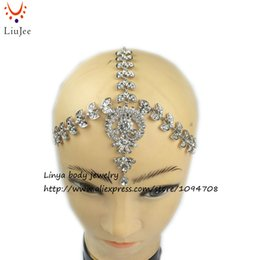 Head Band Boho Australia - HC-192 Diamante head band hair jewelry wedding bridal head Jewelry birthday boho