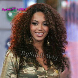 Full lace wig beyonce online shopping - New Fashion Synthetic Kinky Curly Hair Wig Charm women s black Curly Full wig Celebrity Beyonce Curly Hair Lace Front Wig
