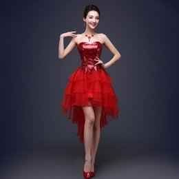 $enCountryForm.capitalKeyWord Canada - New Arrival Evening Dresses Short Bride Gown Black Red Perfect High Low Ball Prom Party Homecoming Graduation Formal Dress
