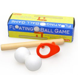 Ball for game online shopping - 2 dh For Kids Funny Flating Ball Game Set Keep Balance Blowing Balls Games Toy Wooden Schylling Toys Outdoor Sports