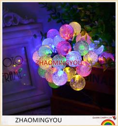 $enCountryForm.capitalKeyWord NZ - Solar Lamp 6M 30LEDs Crystal Ball Waterproof Outdoor solar led string Colorful Warm White fairy light Garden Decoration