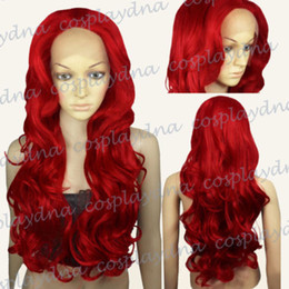 $enCountryForm.capitalKeyWord NZ - 100% Brand New High Quality Fashion Picture full lace wigs>Heat-Resistant Fiber Lace Front Wigs Fashion Dark Red Long Wavy Hair