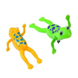 $enCountryForm.capitalKeyWord NZ - Swimming Frog Clockwork Pool Bath Cute Toy Wind-Up Swim Frogs Kids Toy Clockwork Wind Up toys for Children Baby Wholesale