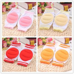 Discount toddler crawling knee pads - Wholesale- Safety Baby Corner Guards Crawling Protect Elbow Cushion Infants Kids Toddlers Cute Baby Knee Pads 5 Colors