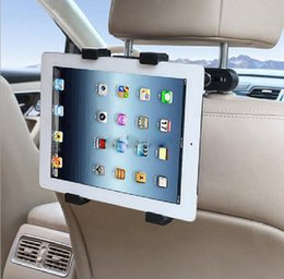 Discount stand headrest - DHL Mobile Phone Tablet PC Car Holder Stand Back Auto Seat Soporte Headrest Bracket Support Accessories for GPS DVD iPad