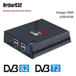dvb player android NZ - Amlogic S905 KII Pro DVB-S2 DVB-T2 Quad-core Android 7.1 TV Box 2G 16G 4K 2.4G&5G Wifi Bluetooth Smart Media Player VS KIII