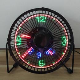 Nuovo arrivo regalo di compleanno di Natale Flod ventilatore fan USB con temperatura orologio USB connettore ventilatore ventilatore 5V
