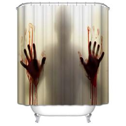 $enCountryForm.capitalKeyWord Canada - New Design Walking Dead Bloody Bathroom Waterproof Polyester Shower Curtains Bath Bathing Sheer Curtain Bathroom Home Decoration