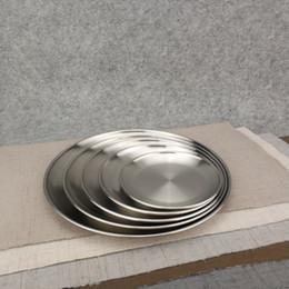 Discount stainless steel dinner plates - 14cm 17cm 20cm 23cm 26cm Kroean Style Stainless Steel Dinnerware & Discount Stainless Steel Dinner Plates | Wholesale Stainless Steel ...