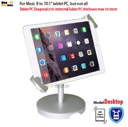 Stand Holder Support For Tablets Canada - Universal Tablet Holder for 8-10 inch tablet pc stand security holder for ipad 2 3 4 air samsung desktop display support