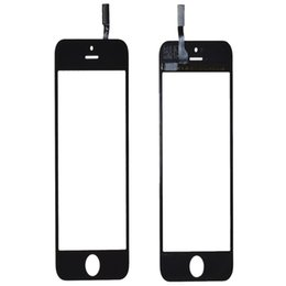 Iphone Touch Screen Digitizer Glass Canada - High Quality Touch Panel Screen Digitizer Glass Lens for iPhone 5 5G 5s 5c Balck and White Replacement Free Shipping