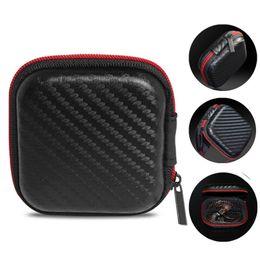 EVA Fiber Zipper Carrying Storage Case Funda Bolsa Funda Portátil Holder para tarjeta Cable USB Auriculares estéreo Bluetooth Headset