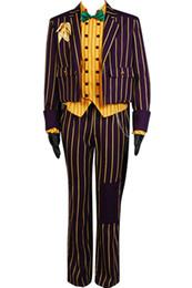 Discount batman dark knight figure - Kukucos Movie Figure Batman Arkham Asylum Dark Knight Joker Cosplay Costume Halloween Complete Suit