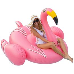 China Inflatable Flamingo Giant Pool Float for Sunbathe Mat Air Swimming Ring,Ride-On Float for Vaction Party or Sea Beach Party Toys suppliers