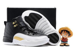 Discount Kids Athletic Shoes Canada - Discount Basketball Shoes kids 2018 12 White Black Ovo 12s Wolf Grey Cheap Boys Girls Athletic Sports Shoes